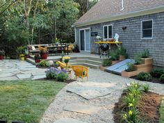 After: Dream Realized - 15 Before-and-After Backyard Transformations on HGTV         I want the stepped garden boxes.