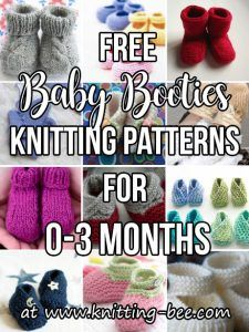 Baby Booties Free Knitting Patterns for months. Don't miss out on these amazing free baby knitting patterns! Lace Knitting Stitches, Baby Cardigan Knitting Pattern, Easy Knitting, Baby Knitting Patterns, Baby Patterns, Crochet Patterns, Cable Knitting, Sweater Patterns, Vest Pattern