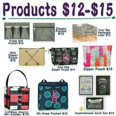 $12-$15 products in the Fall/Winter catalog www.mythirtyone.com/mandiyontz/