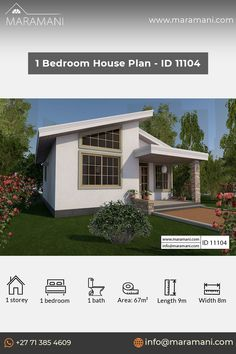 1 Bedroom House Plans