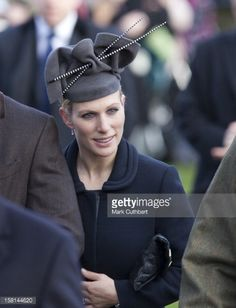 Zara Phillips Attends St Mary Magdalene Church, On The Royal Estate In Sandringham, Norfolk For The Christmas Day Church Service. (Photo by Mark Cuthbert/UK Press via Getty Images) St Mary Magdalene Church, Zara Hats, Autumn Phillips, Royal Christmas, Xmas, English Royal Family, Zara Phillips, Elisabeth Ii, Photographers Near Me