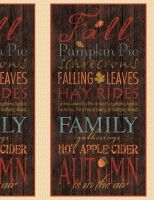 "Wilmington Colors of Fall 84410-233 Panel Brown with Fall Words 24"" x 42"""