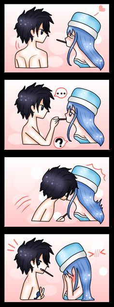 Gruvia gray wins he got all the chocolate bar lol