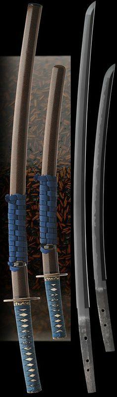 Katana siged as (mei): HEIANJO FUJIWARA 1600's. Wakizashi signed as (mei): bizen kuni ju osafune kiyo, Date:Tensho 1573. Japan