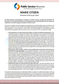 Public Service Resumes: Cover letter example 2 | Cover letter ...