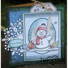 Heartfelt Creations - Joyful Snowman Card And Tin Project