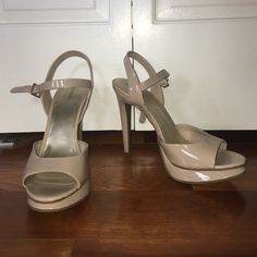 Nude heels Patent nude Xhilaration shoes. Size 9.5. Worn once! Xhilaration Shoes Heels