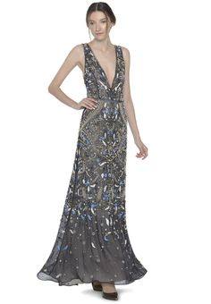 MARNEE PLUNGING GOWN by Alice + Olivia