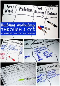 Building Vocabulary through a CCD {Cognitive Content Dictionary} | LAUGH EAT LEARN.COM
