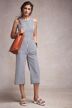 Joa Sailor Stripe Jumpsuit - from anthropologie