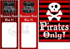 Pirate Party & Knights Party printables