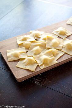 Goat Cheese Raviolis with Blistered Sugar Plum and Hefeweizen Marinara  How to Make Homemade Raviolis