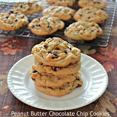 Shweta in the Kitchen: Peanut Butter Chocolate Chip Cookies