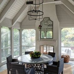 screened porch see through fireplace | screened in porch | For the Home