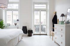 Peaceful bedroom with Ikea 'Hemnes' dresser