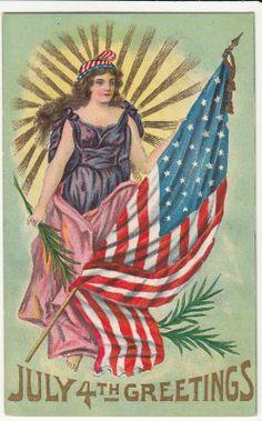 Fourth of July Lady Liberty  1909