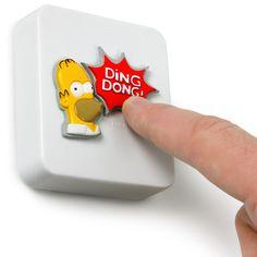 novelty doorbell  | Homer Simpson Talking Doorbell | drinkstuff ®