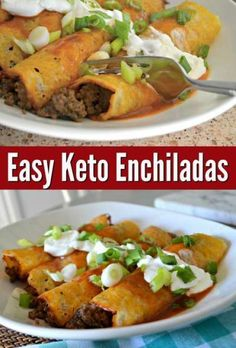 Looking for the best Keto Recipes for dinner? Here are quick Keto dinner recipes for Keto diet for begineers. These are low carb keto meals you can enjoy. Keto Foods, Ketogenic Recipes, Diet Recipes, Healthy Recipes, Keto Snacks, Recipes Dinner, Best Enchiladas, Ground Beef Enchiladas, Mexican Food Recipes