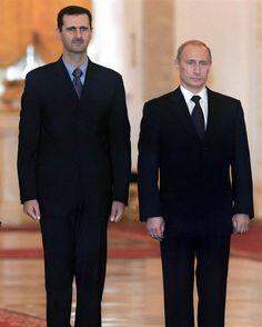 Image: Syrian President Bashar Assad and Russian President Vladimir Putin 4 August 2015