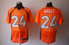 Nike NFL Jerseys Denver Broncos Champ Bailey #24 Orange  http://www.wholesalereplicajersey.com/   wholesale replica jersey