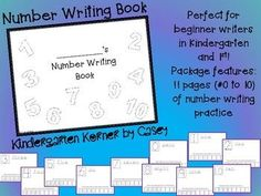 This NO PREP Number Writing Book is a great tool for introducing number formation to your kindergarten students. Each page features traceable numbers, boxes for independent practice, and room to illustrate a representation of the number (ex  student may draw 1 apple on the one page).