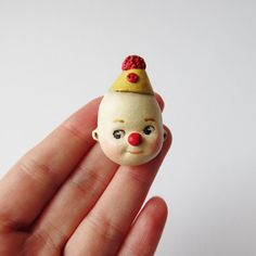 Cutie the Kewpie Clown Brooch by DottieDollie