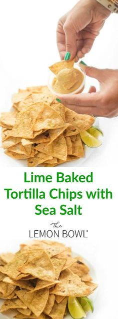 These lime scented baked corn tortilla chips are light and crunchy, the ultimate healthy snack recipe! Gluten Free Appetizers, Gluten Free Snacks, Best Appetizers, Appetizer Recipes, Snack Recipes, Mexican Appetizers, Party Appetizers, Good Healthy Recipes, Healthy Snacks