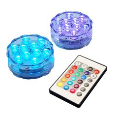 Specialties Submersible Remote Control Multi-Color LED Lights (Set of 2) (Multi Color LEDs) (Plastic)