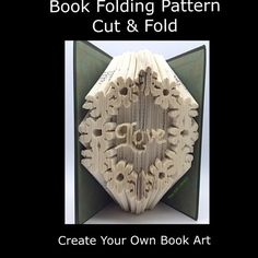 Book Folding PATTERNCut & Fold   Flowers Love by TheGiftLibrary