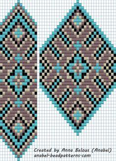 "Схема гердана ""Сиренево-бирюзового"" - станочное ткачество"
