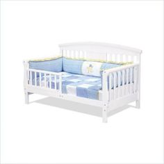 The versatile Elizabeth II Toddler Bed from DaVinci utilizes a stan...
