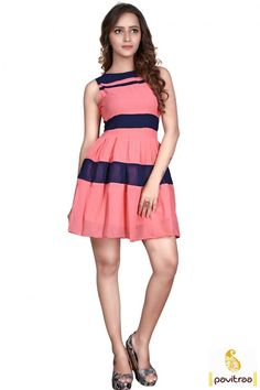 Peach Short Western Frock Western One Piece Dress #Onepiecedressonline #WesterndressesonlineIndia #Westernmididresses More: http://www.pavitraa.in/store/western-dress/?utm_source=hp&utm_medium=pinterestpost&utm_campaign=27Oct Offer: Flat 20% Off Free Shipping + COD Service In India More Details : Call / WhatsApp : +91-75750-33399