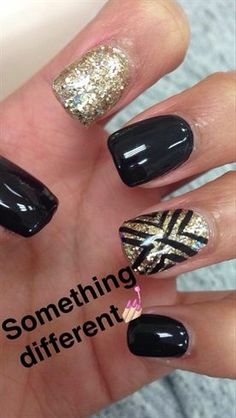 awesome Black And Gold Design by alexisrichards from Nail Art Gallery