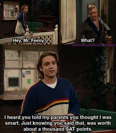Eric and Feeny moment Boy Meets World Boy Meets World Quotes, Girl Meets World, Tv Show Quotes, Movie Quotes, Best Tv, The Best, Cory And Topanga, The Lone Ranger, Boy Meets Girl