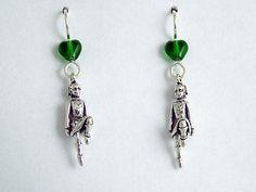 Sterling Silver Irish Dancer dangle earrings-Feis, Feisanna, Celtic, Step, Dance