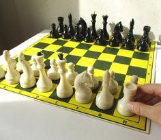 Chess Set Vintage Complete Soviet Chess 12 Board by MerilinsRetro