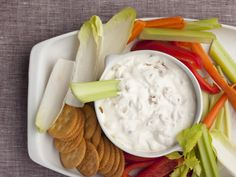 Alton Brown's homemade sour cream & onion dip is fantastic--I used 1 Tbsp. olive oil instead of 2, used nonfat sour cream and black pepper instead of white and it was still a winner. Serve with potato chips or cut veggies.