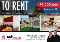 AVAILABLE IMMEDIATELY The apartment has a spacious open-plan tiled living area, with access to a sunny balcony where you can enjoy a Weber braai and entertain. The kitchen has ample storage space with its cherry-wood cupboards. There is an under-counter oven, hob and extractor fan as well as a plumbing point for a washing machine. The two bedrooms are also tiled and sizeable with built in cupboards. The family bathroom offers a bath and shower. #CCH #capetown #kraaifontein #northernsuburb 2 Bedroom Apartment, Two Bedroom, Bedrooms, Built In Cupboards, Family Bathroom, Coastal Homes, Open Plan, Plumbing, Living Area