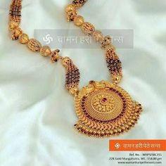 Image result for mangalsutra design of waman hari pethe #indianjewelry