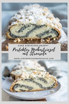Delicious recipe for juicy poppy seeds with sprinkles Austrian Recipes, Strudel, No Bake Cake, Sprinkles, Food And Drink, Low Carb, Yummy Food, Nutrition, Sweets