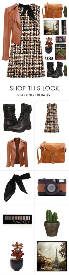 """""""top set tweed dress"""" by tinkertot ❤ liked on Polyvore featuring UGG, Dolce&Gabbana, TC Fine Intimates, Lomography, Forever 21, John Lewis, Lux-Art Silks and WALL"""