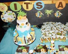 lion themed babyshower for a girl | Acinta's King of the jungle baby shower decorations and favors