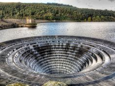 Plug hole at Ladybower Reservoir, via Flickr.