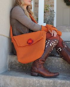 Hey, I found this really awesome Etsy listing at https://www.etsy.com/listing/206544412/handmade-knit-bag-in-rust-burnt-orange