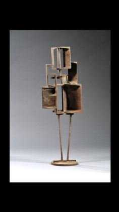 """Cy Twombly - """" Untitled """", c. 1953 - Welded steel - 81,3 x 20,3 x 19 cm"""