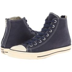Converse Chuck Taylor All Star Vintage Washed Twill Back Zip Hi Lace... ($70) ❤ liked on Polyvore