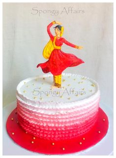 'Kathak' dance(one of the Indian classical dance forms) themed cake for a Kathak teacher! A birthday gift to a teacher from her student! :) A fresh cream covered chocolate cake with a hand-cut and painted silhouette of dancer, enjoyed making it :)