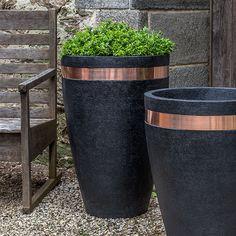 Moderne Tapered Tall Planter | Kinsey Garden Decor