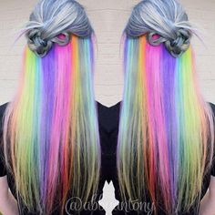 Underlights Are the New Secret Rainbow Hair Trend You Must Try-So sneaky! We all know that rainbow hair was THE hair trend to sweep Insta feeds in 2015. From moonstone hair to hypercolored locks, it feels as though we've possibly seen it all — and even into 2016, it's a trend that's showing no signs of slowing down. But for those who want to rock that brightly colored cartoon-y look without being too in-your-face about it, there's a new secret...