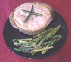 Chicken, Fish or Navy Bean Pot Pie        Muminah's Easy Potpie      Ingredients:      2 refrigerated pie crusts      1/2 green pepper, chopped      1/2 onion, chopped      salt and freshly ground pepper      1 10-oz cans Cream-of-Celery soup      1 10-oz can of Cream-of-Mushroom soup      1/2 lb fresh mushrooms, chopped      3 medium red potatoes, cubed      1 package broccoli florets (or any veggies, such as carrots etc.)      1/2 stick butter